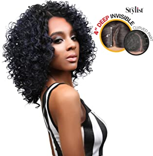 The Stylist Synthetic Lace Front Wig Deep Lace Curved Part Spicy Curl (1)