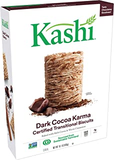Kashi, Breakfast Cereal, Dark Cocoa Karma, Fair Trade Certified Cocoa, Non-GMO Project Verified, 16.1 oz(Pack of 12)