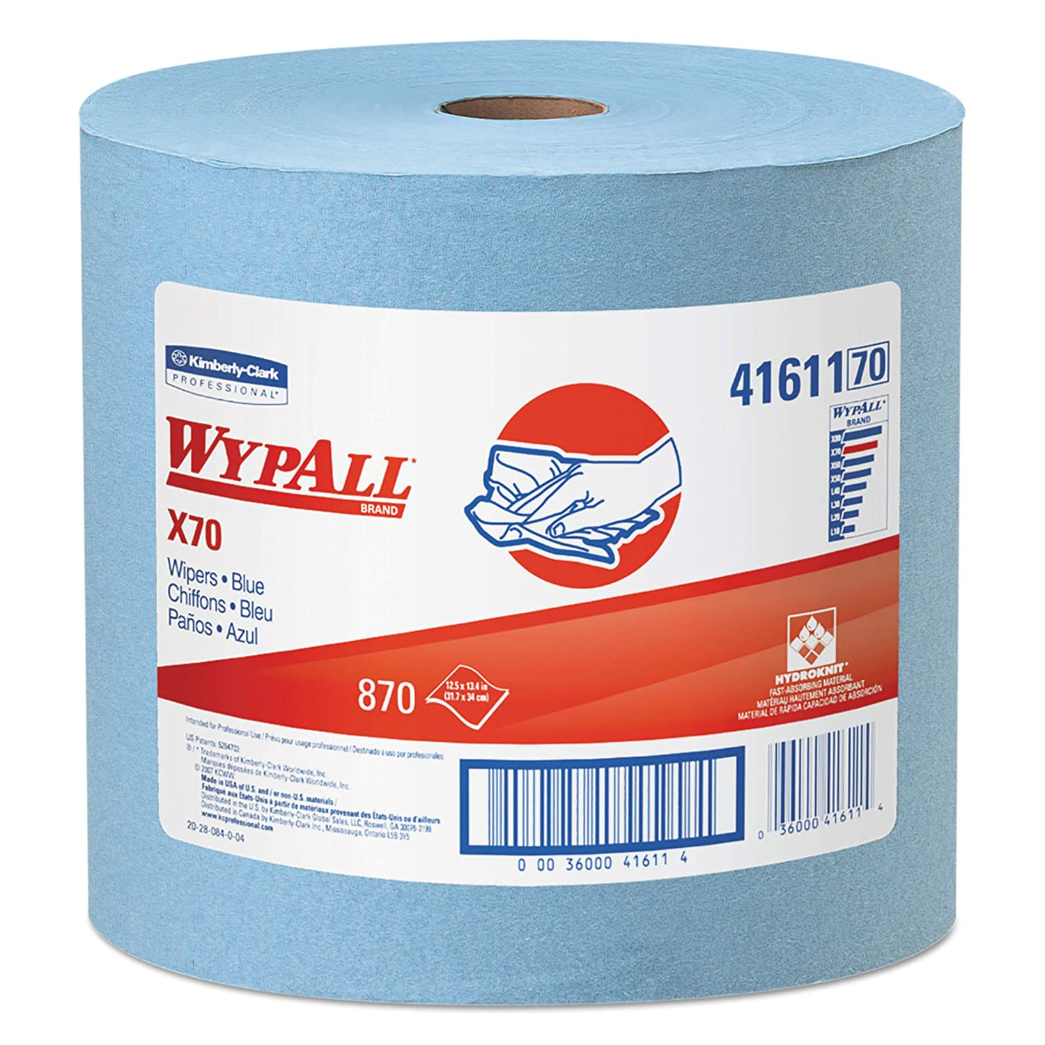 WypAll 41611 X70 Cloths Jumbo Department store Roll 12 x 870 Max 66% OFF Blue 13 1 2 5