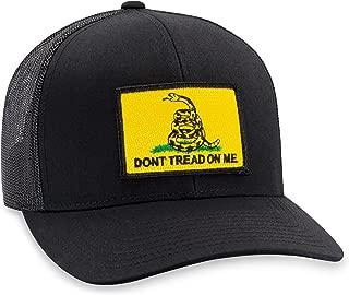 Dont Tread on Me Hat – Gadsden Flag Trucker Hat Baseball Cap Snapback Golf Hat (Black)
