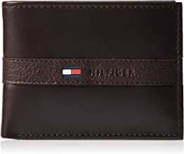 Tommy Hilfiger Men's Thin Sleek Casual Bifold Wallet with 6 Credit Card Pockets and Removable Id...