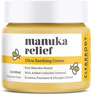 Eczema Psoriasis Honey Cream for Dry Itchy Cracked Irritated Skin- Manuka & Colloidal Oatmeal Treatment for Dermatitis, Sh...