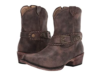 Roper Nelly (Vintage Brown Faux Leather) Cowboy Boots
