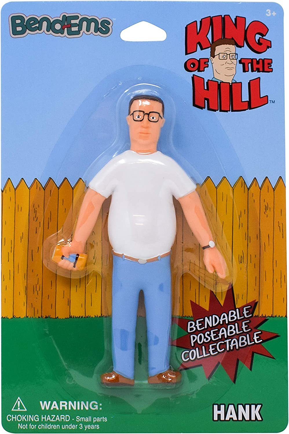 Sunny Days Entertainment King of The Hill BendEms Hank - Bendable Posable Action Figure
