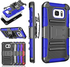 Galaxy S7 Edge Case, TILL [Knight Armor] Heavy Duty Full-body Rugged Holster Resilient Protective Case [Belt Swivel Clip][Kickstand] Combo Cover Shell For Samsung Galaxy S7 Edge G935 All Models [Blue]