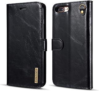 iPhone 7 Plus Case, iPhone 8 Plus Case, Genuine Cowhide Leather Folio Flip Wallet Case Magnetic Detachable SlimCase Cover ...