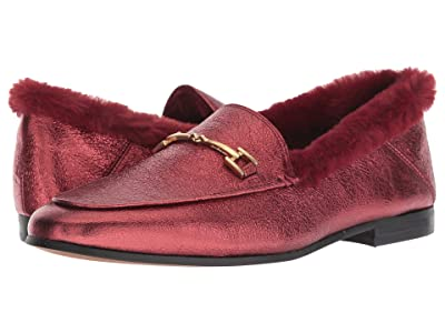 Sam Edelman Loraine Loafer (Metallic Rust Soft Crinkle Metallic Leather) Women