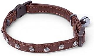 Petface Brown with Diamond Studs Cat Collar