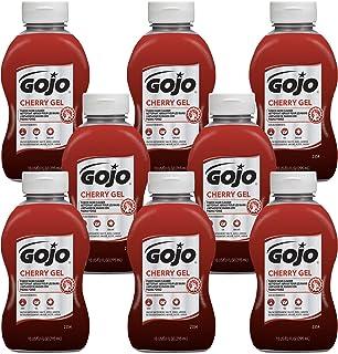 GOJO Cherry Gel Pumice Hand Cleaner, Cherry Fragrance, 10 fl oz Flip Cap Squeeze Bottle (Pack of 8) - 2354-08
