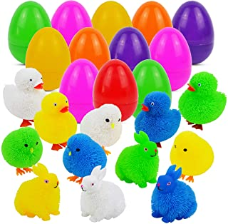 Timi/&Hebe Easter Basket Fillers Easter Egg 6PCS Truck diy Car For Kids,Easter Basket Stuffers Plastic Toys with Animal Car,Road Traffic Sign Sticker toys for Easter Gift,Easter Hunt Ideas,Easter Party Favors