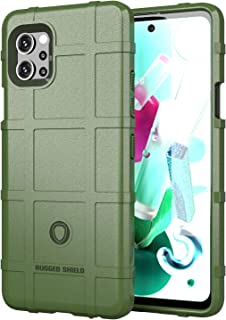Wuzixi Case for LG Q92 5G.Soft silicone sleeve design, shockproof and durable, Cover Case for LG Q92 5G.(Green)