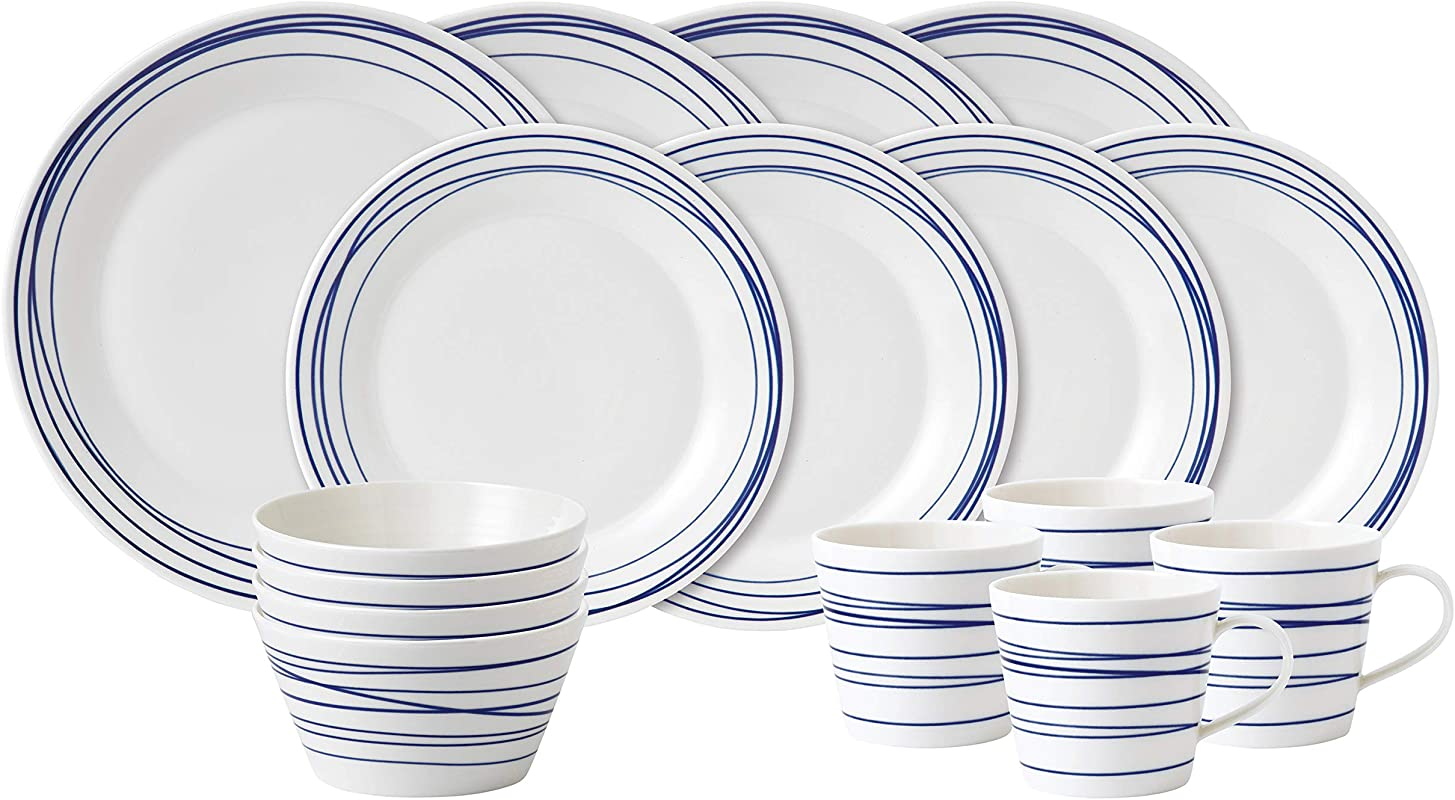 Royal Doulton 40021448 Pacific 16 Piece Set Lines Dinnerware Set Multiple