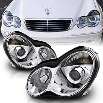 [FPWZ_2684]  Amazon.com: AmeriLite Projector Replacement Headlights Chrome for 01-07  Mercedes-Benz C Class W203 - Passenger and Driver Side: Automotive | Mercedes Benz C280 4matic 2007 Side Markers Repair Wire Harness |  | Amazon.com