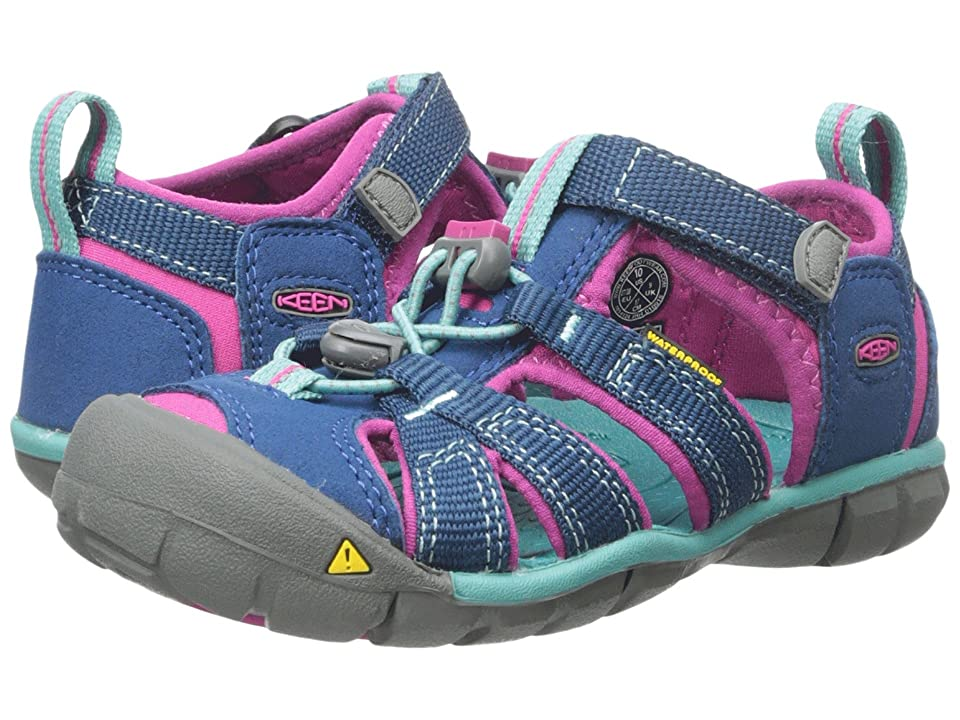 Keen Kids Seacamp II CNX (Toddler/Little Kid) (Poseidon/Very Berry) Girls Shoes