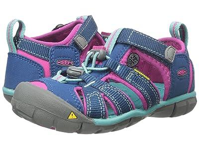 Keen Kids Seacamp II CNX (Toddler/Little Kid) (Poseidon/Very Berry) Girls Shoes