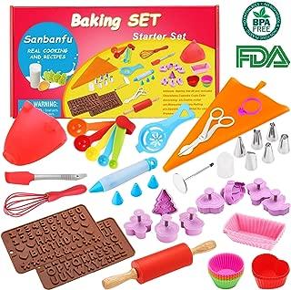 Kids Baking Set Real Cupcake Baking Supplies Silicone Cake Decorating Kit,Perfect for Girls Teens Toddlers Beginners Teenagers