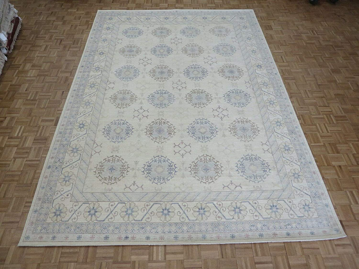 9'8 x Brand Cheap Sale Venue 13'9 Hand Knotted Ivory G8875 Peshawar Max 86% OFF Oushak Oriental Rug