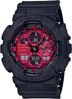 Men's Casio G-Shock Adrenalin Red Series Analog-Digital Black Resin Strap Watch GA140AR-1A
