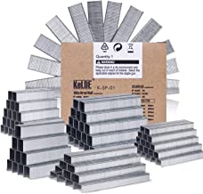 KeLDE 5000 Piece Heavy Duty Staple and 5/8 Inch, 15mm Brad Nail Kit, Fastener Flat Crown Staple Include 1/4, 5/16, 3/8, 1/2, 9/16 Inch, 6, 8, 10, 12, 14 mm, for Arrow T50 / Stanley TRA700 / Rapid 140