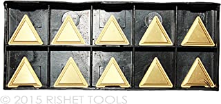 RISHET TOOLS 16618 SPKN 42 EDR C5 Multi Layer TIN Coated Solid Carbide Inserts Pack of 10