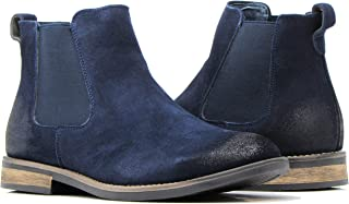 BL01 Men's Chelsea Boots Dress Fashion Slip On Suede Leather Ankle Boots