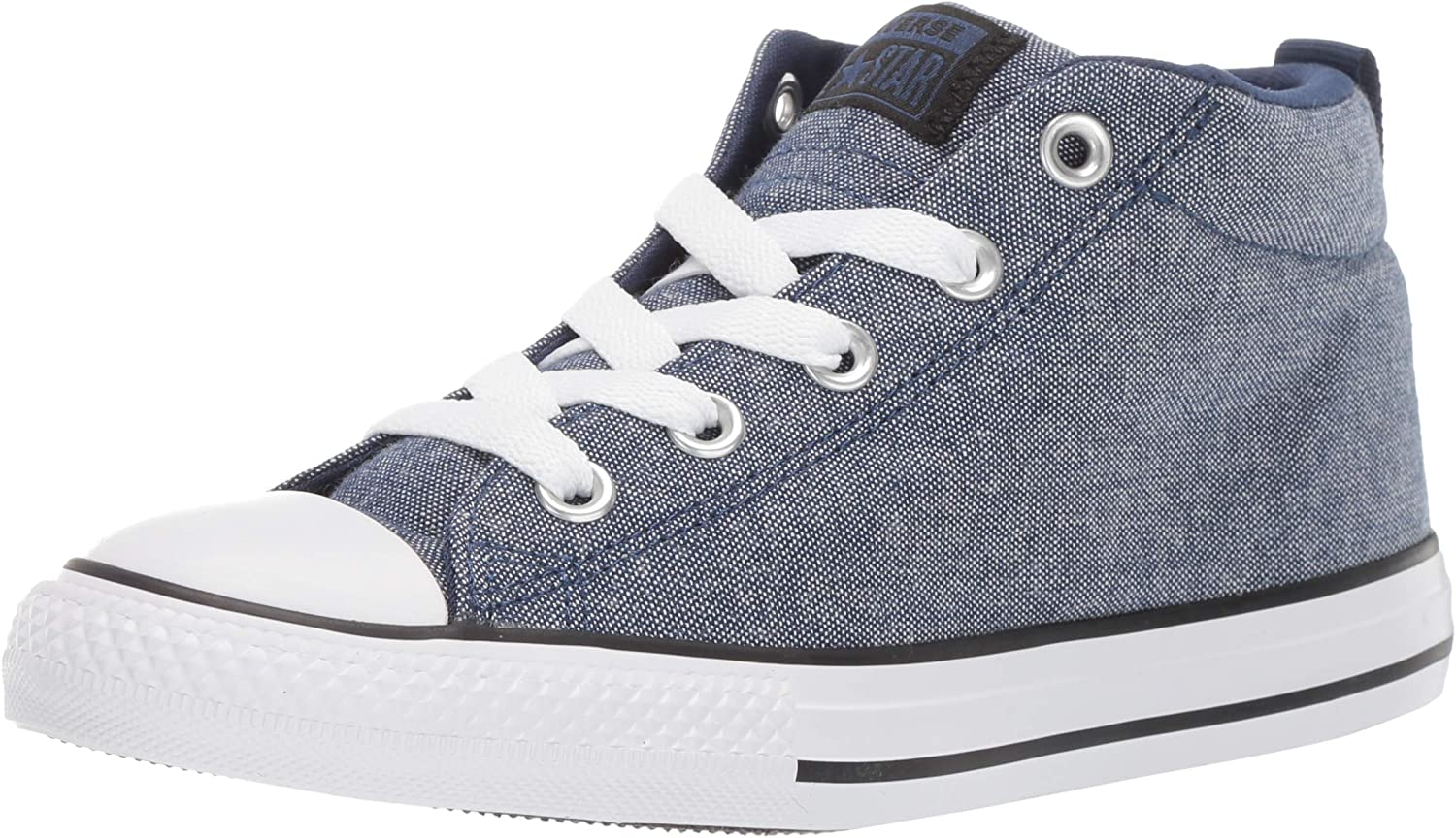 Converse Unisex-Child Kids' Chuck Taylor All Star Street Knotted Laces Mid Top Sneaker