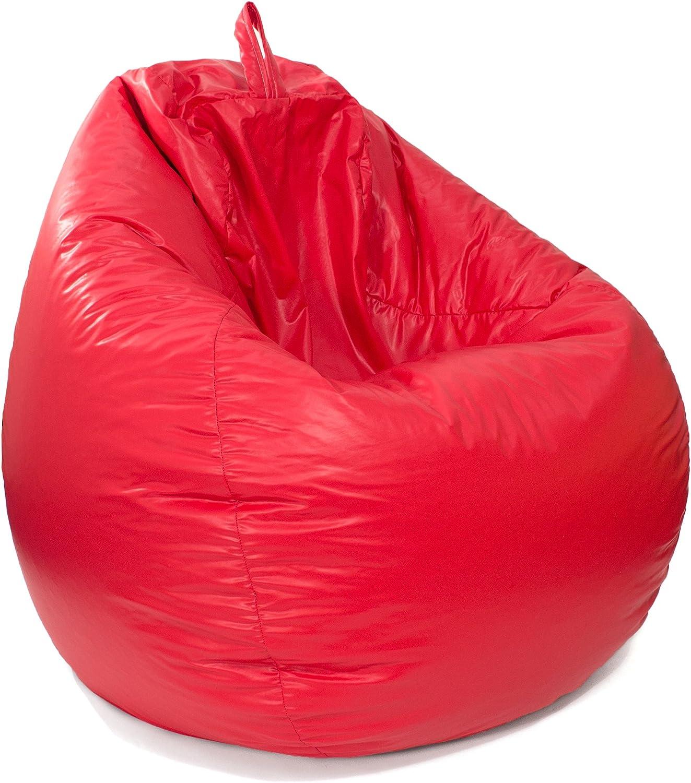 gold Medal Bean Bags Leather Look Tear Drop Bean Bag  Red