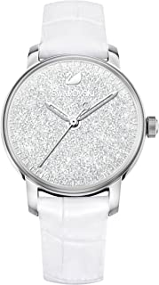 Swarovski Women's Silver Dial Leather Band Watch - 5295383