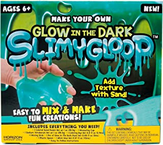 Slimygloop Make Your Own Glow In The Dark DIY Slime Kit by Horizon Group Usa, Mix & Create Stretchy, Squishy, Gooey, Putty, Glow In The Dark Green Slime- Glow In The Dark