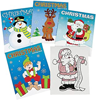 Fun Express Assorted Christmas Coloring Books | 24 Count | Great for Holiday Gatherings, Party Prizes, Giveaways, and Art Activities