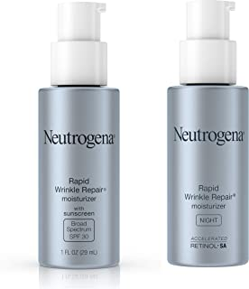 Neutrogena Rapid Wrinkle Repair Night Moisturizer for Face with Retinol, 29ml and Neutrogena Rapid Wrinkle Repair Anti Age...