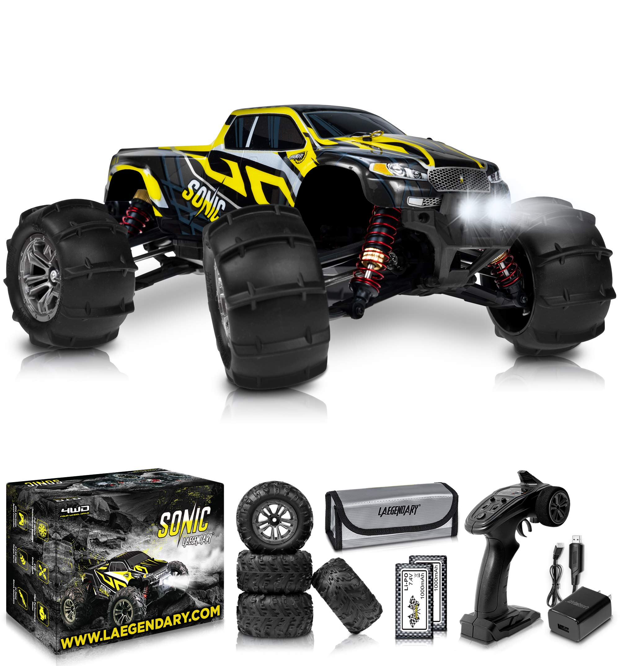 1 16 Brushless Large Rc Cars 55 Kmh Speed Kids And Adults Remote Control Car 4x4 Off Road Monster Truck Electric All Terrain Waterproof Toys Trucks For Boys Girls 2
