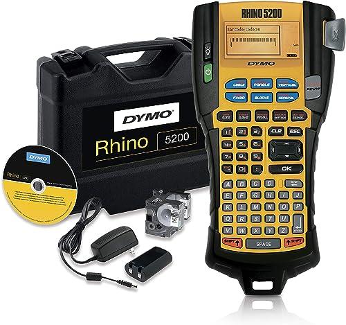 DYMO Industrial Label Maker | RhinoPRO 5200 Label Maker, Time-Saving Hot Keys, Prints Fast, Durable Label Maker for J...