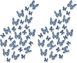 Luxbon 3D Vlinder Muurstickers, 100 Stuks Vlinder Muurdecoratie DIY Ambachten Art Decoraties, Vlinders Stickers voor Kinde...