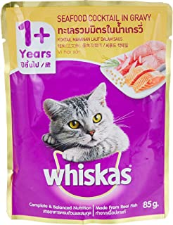 Whiskas Seafood Cocktail Wet Cat Food Pouches 85g x 24 Pieces
