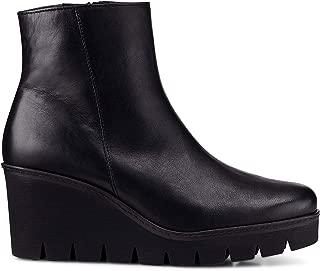 Utopia Womens Chunky Wedge Heel Ankle Boots