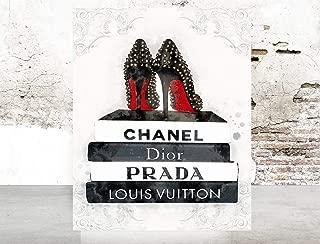 Fashion Glam wall art print Illustration Books Shoes Vogue Poster