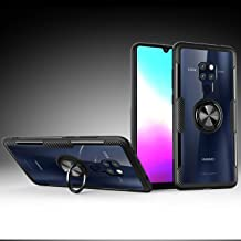 StarCity Huawei Mate 20 Pro Case, Ring Holder Kickstand 360 Rotational Clip Flexible Rubber Bumper Frame Slim Fit Hard Protective Back Clear Cover Case for Huawei Mate 20 Pro Black
