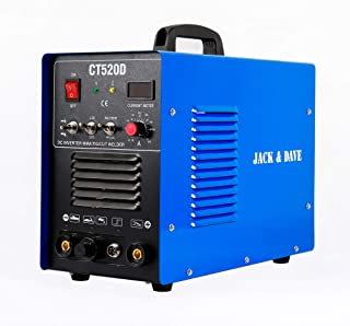 Jack&Dave CT520D 50 AMP Air Plasma Cutter, 200 AMP Tig and Stick/MMA/ARC Welder 3 in 1 Combo Welding Machine, ½ Inch Clean Cut