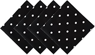 DII Z02037 Printed Polka Cotton Napkin, Perfect for Dining Room, Holiday Parties, and Everyday Use, Black Base White Dots ...