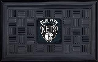 "FANMATS 11418 NBA Brooklyn Nets Vinyl Door Mat Black, 19""x30"""