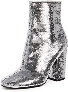 Best silver sequin ankle booties Reviews