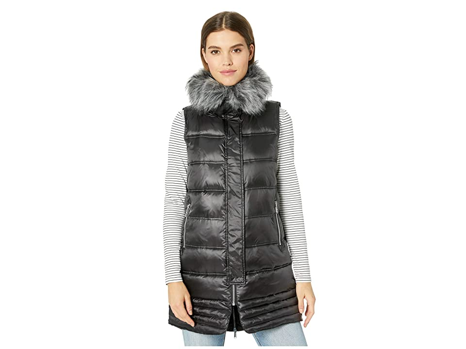 Sam Edelman Faux Fur Puffer Vest (Black) Women