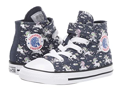 Converse Kids Chuck Taylor(r) All Star(r) 1V Unicorns (Infant/Toddler) (Navy/Black/White) Girls Shoes