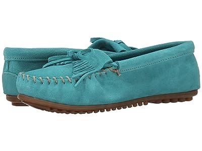 Minnetonka Kilty Moc (Turquoise Suede) Women