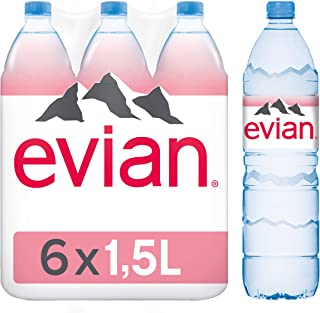 Evian Mineral Water Pet Bottle, 6 x 1.5 Liters