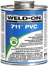 Weldon 10123 Gray 711 Heavy-Bodied PVC Professional Industrial-Grade Cement Medium-Setting Low-Voc, 1/2 Pint, Gray
