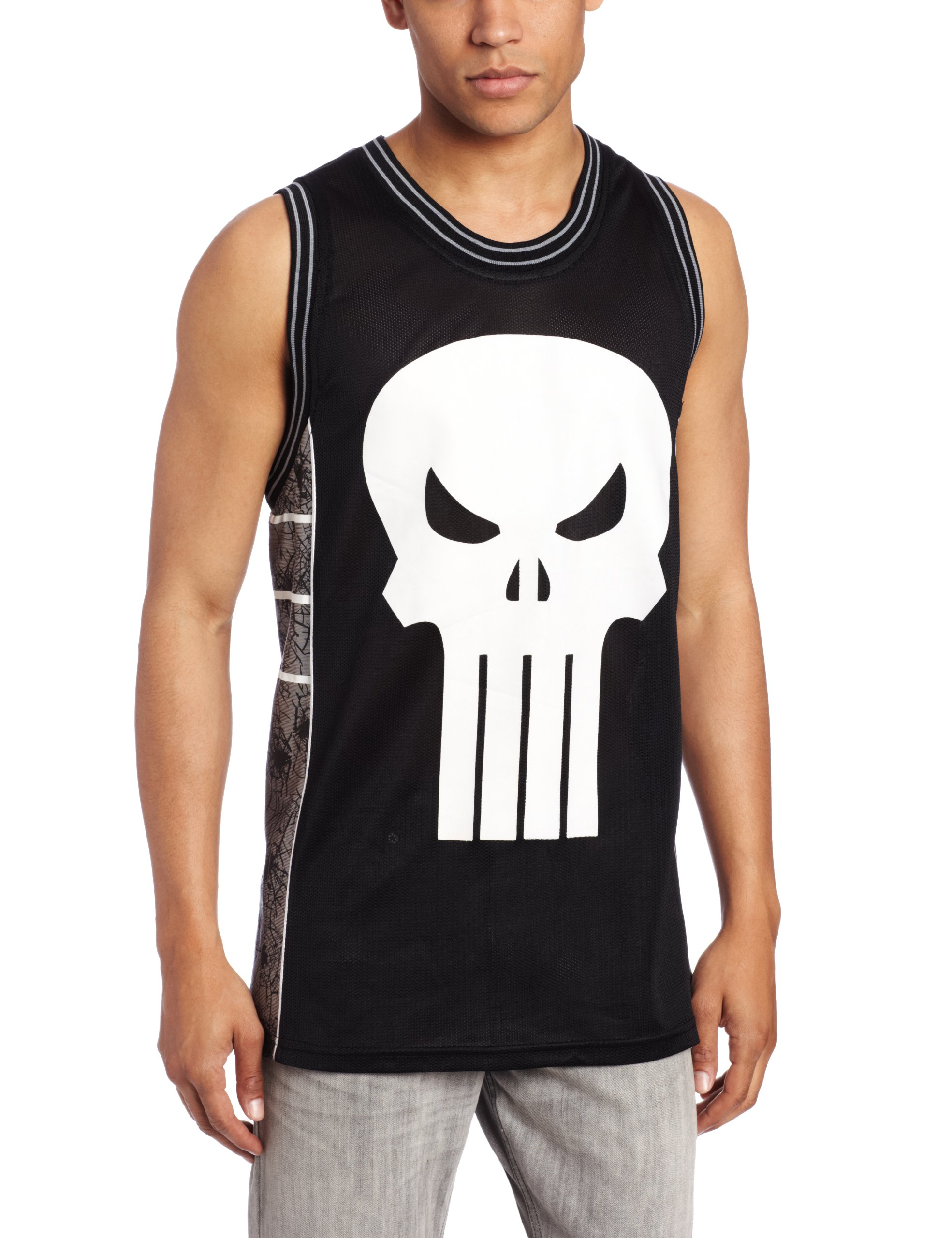 Men's Punisher Castle Basketball Jersey Shirt