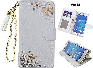 「kaupili」 Samsung Galaxy S9 SC-02K docomoケース 鏡/ミラー付き カード収納 スタンド機能 手帳型 お財布機能付き 化粧鏡付き ホワイト