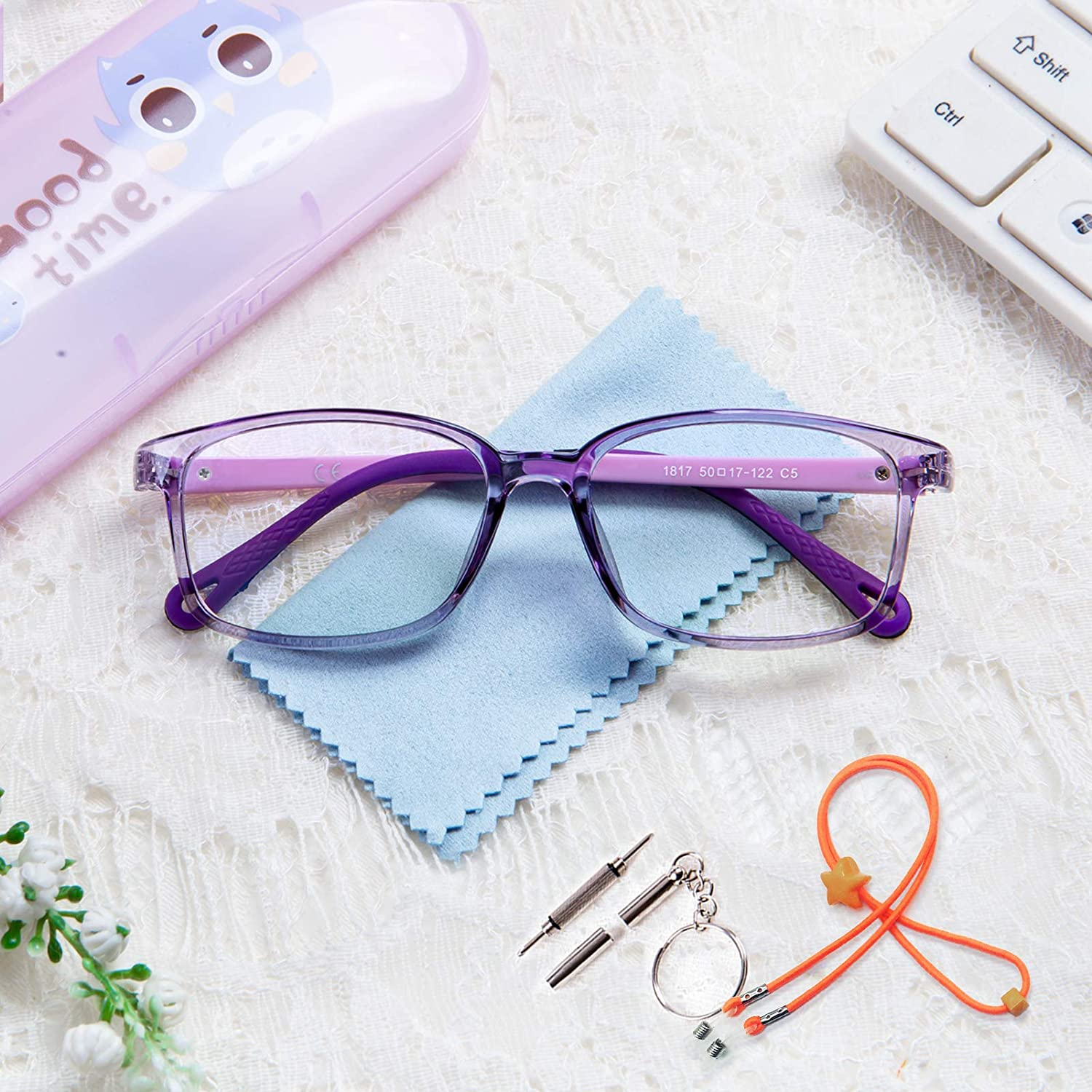 Blue Light Blocking Glasses Safety and trust for Kids with Case Max 56% OFF